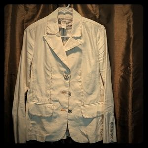 White linen/cotton blazer